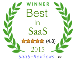 Saas-Reviews Best in SaaS award 2015